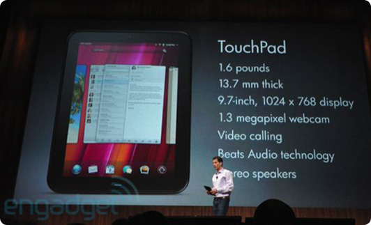 HP TouchPad Specifications