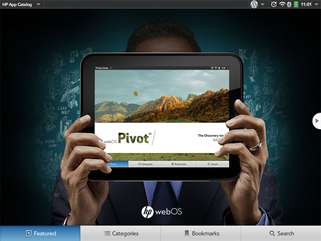 HP 'Pivot' App Catalog front-end