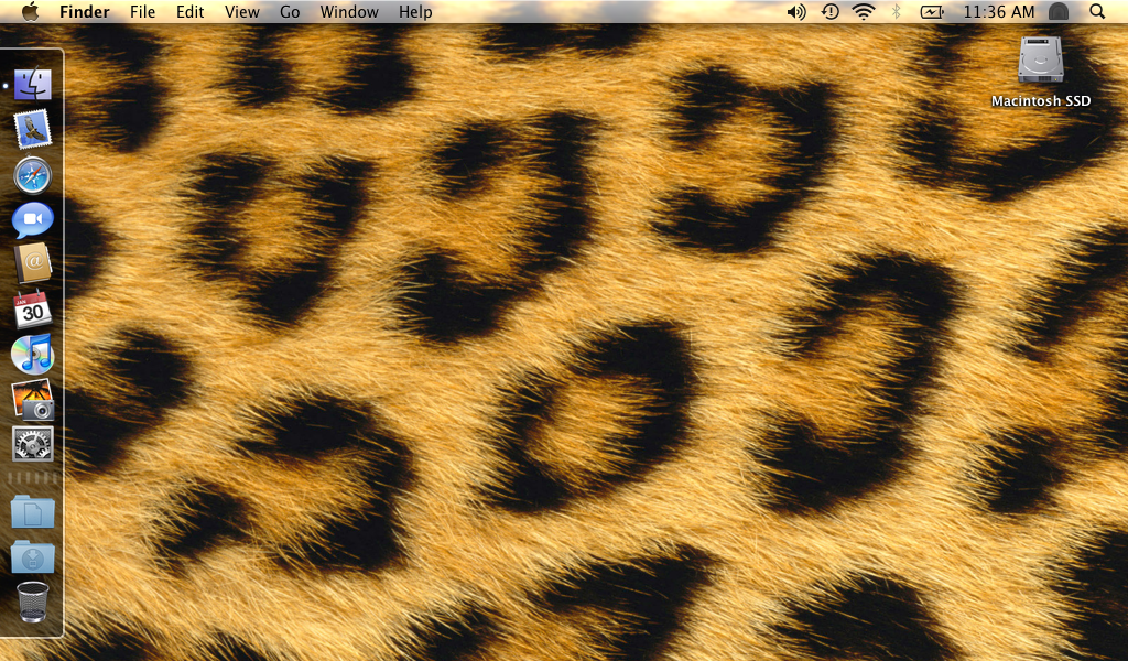 Leopard desktop from a Samsung NC-10